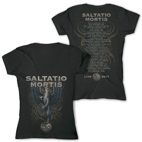 Festivalmotiv 2017 von Saltatio Mortis - Girlie Shirt jetzt im Saltatio Mortis Shop