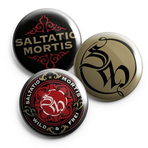√Ornament von Saltatio Mortis - 3-piece button set jetzt im Saltatio Mortis Shop