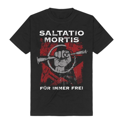 √Für immer frei von Saltatio Mortis - T-Shirt jetzt im Saltatio Mortis Shop