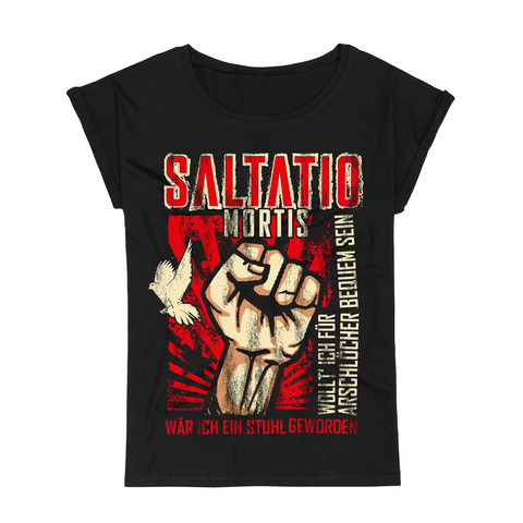 √Fist Up von Saltatio Mortis - Loose Fit Girlie Shirt jetzt im Saltatio Mortis Shop